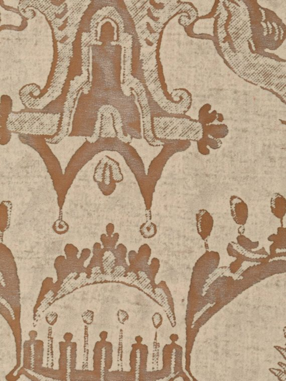 5113 MAZZARINO in tan & brown Fortuny Printed Cottons