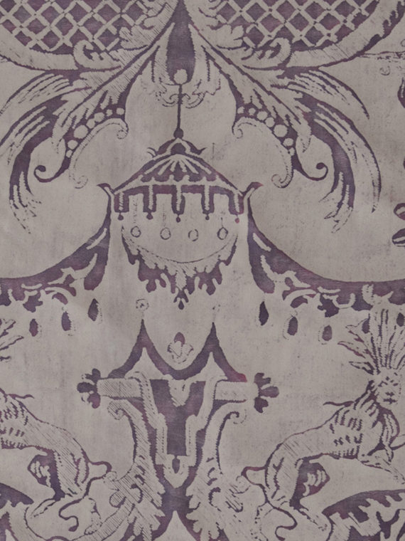5274 MAZZARINO in amethyst & white Fortuny Printed Cottons