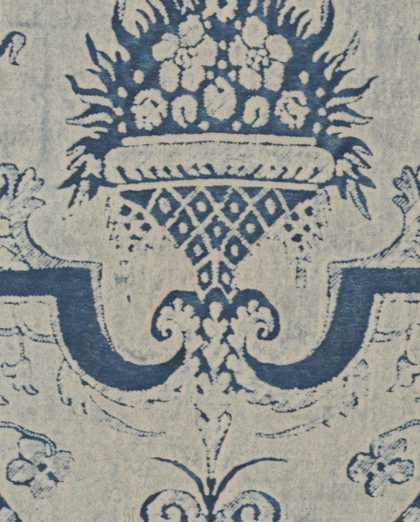 5412 MAZZARINO in indigo blue & ivory Fortuny Printed Cottons
