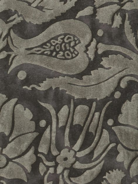 5617 MELAGRANA in black & silver Fortuny Printed Cottons