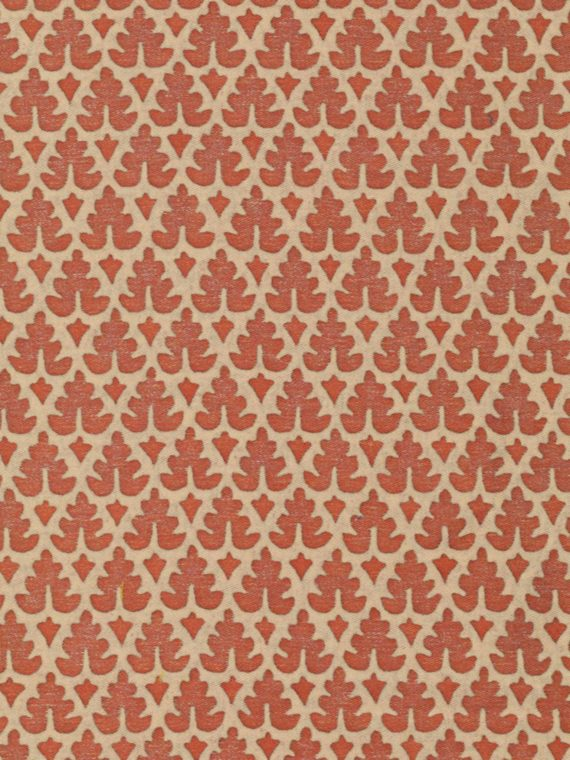 5514 MURILLO in sienna on parchment Fortuny Printed Cottons
