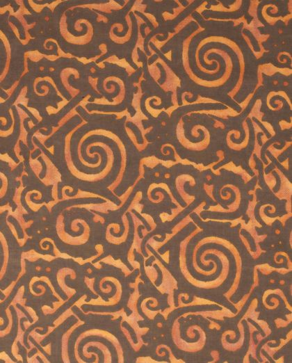 5669 MAORI in tarocco orange & brown texture Fortuny Printed Cottons