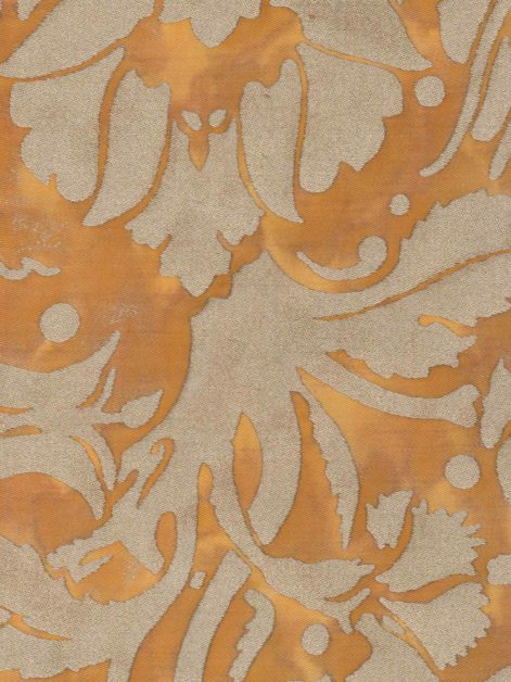 5671 MELAGRANA in marmalade & silver Fortuny Printed Cottons