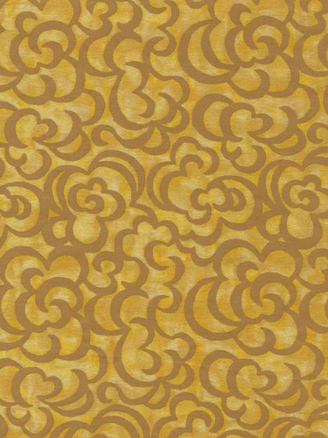 5717 NUVOLE in warm yellow & caramel Fortuny Printed Cottons