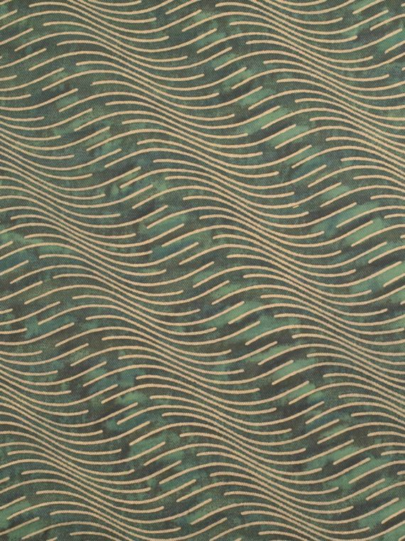 5672 ONDE in blue-green & gold texture Fortuny Printed Cottons