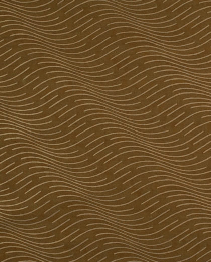 5674 ONDE in brown & gold Fortuny Printed Cottons