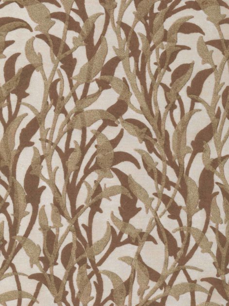 5651 ORFEO in gold & cocoa on ivory Fortuny Printed Cottons