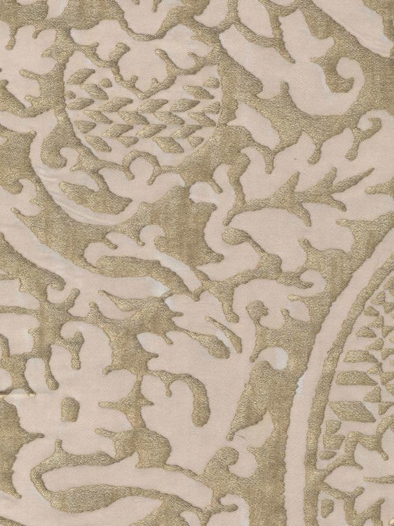5186 ORSINI in champagne & silvery gold Fortuny Printed Cottons