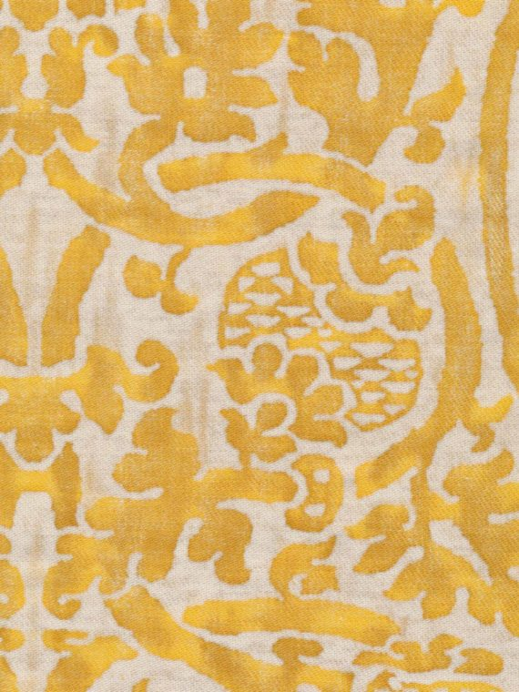 5188 ORSINI in yellow & white texture Fortuny Printed Cottons