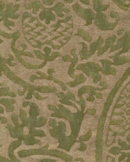 5189 ORSINI in green & gold texture Fortuny Printed Cottons