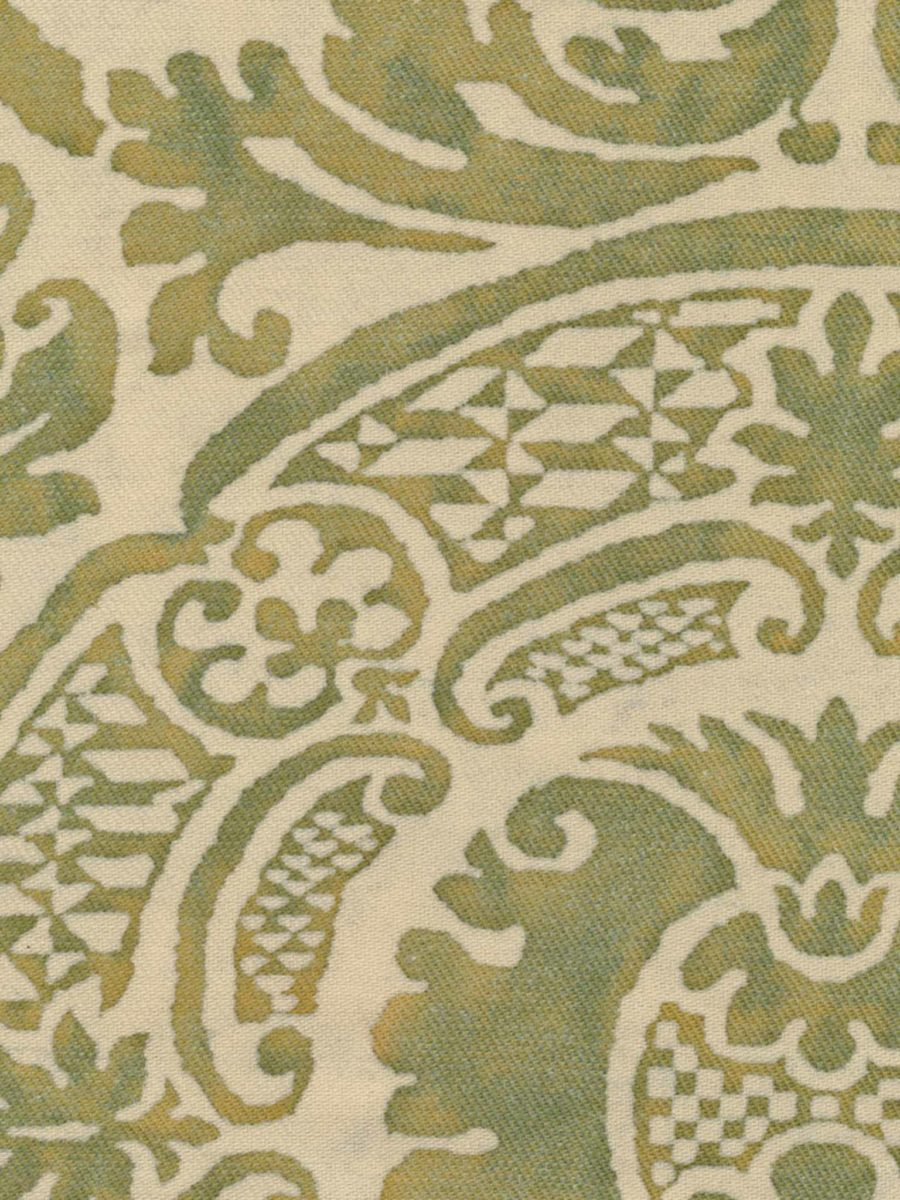 Orsini In Bayou Green On Parchment Texture Fortuny