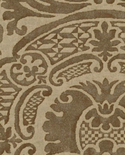 5622 ORSINI in brown & beige texture Fortuny Printed Cottons