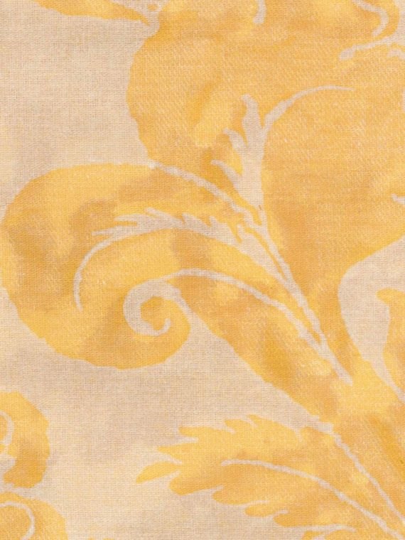 5252 OLIMPIA in yellow & white texture Fortuny Printed Cottons