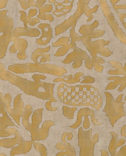 5338 ORSINI in warm french brown & gold Fortuny Printed Cottons