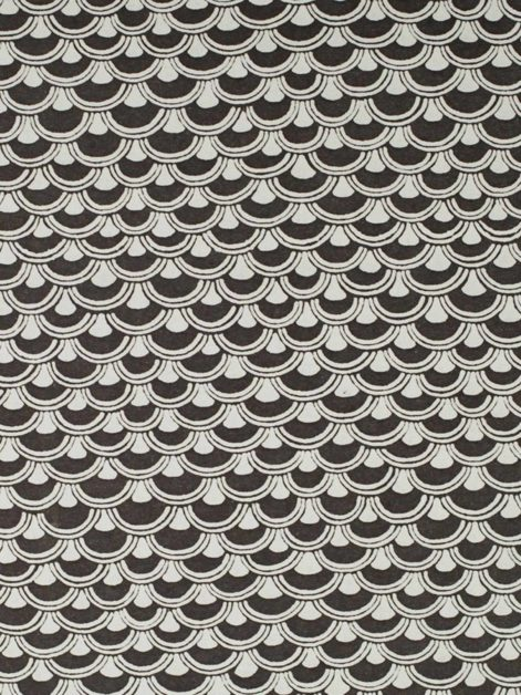 5677 PAPIRO in ebony & white Fortuny Printed Cottons