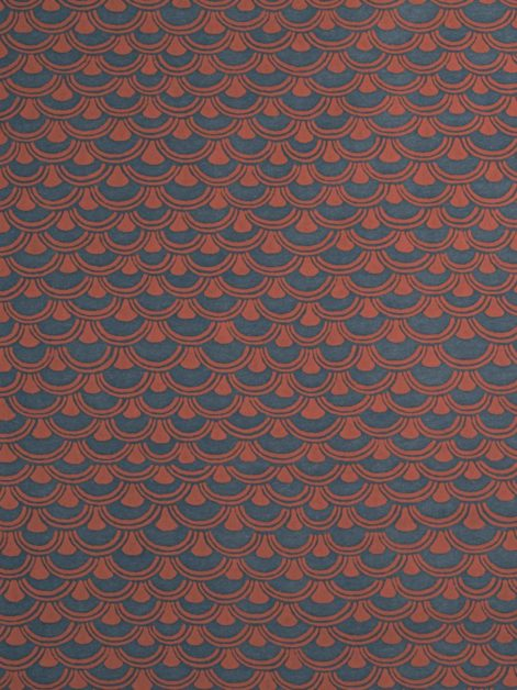 5678 PAPIRO in ocean brick Fortuny Printed Cottons