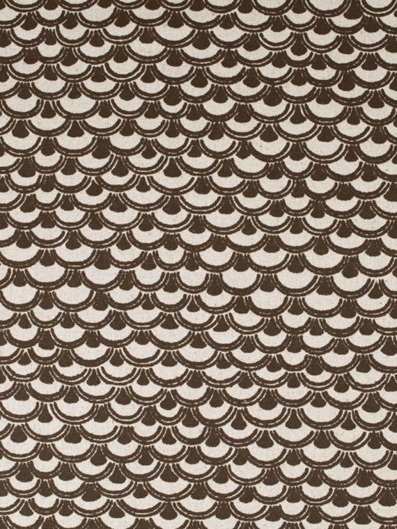 5679 PAPIRO in dark brown on bourette Fortuny Printed Cottons