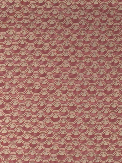 5682 PAPIRO in wine & gold Fortuny Printed Cottons