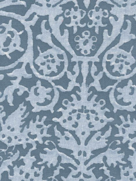 5152 PERGOLESI in blue & white texture Fortuny Printed Cottons