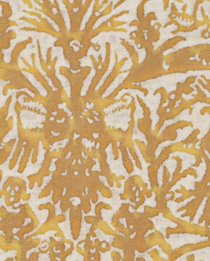 5211 PERGOLESI in yellow & white texture Fortuny Printed Cottons