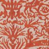 5383 PERGOLESI in bittersweet & antique white texture Fortuny Printed Cottons