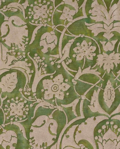 5719 PERSEPOLIS in green & gold Fortuny Printed Cottons