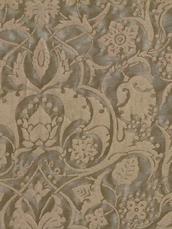 5720 PERSEPOLIS in mushroom & silvery gold Fortuny Printed Cottons
