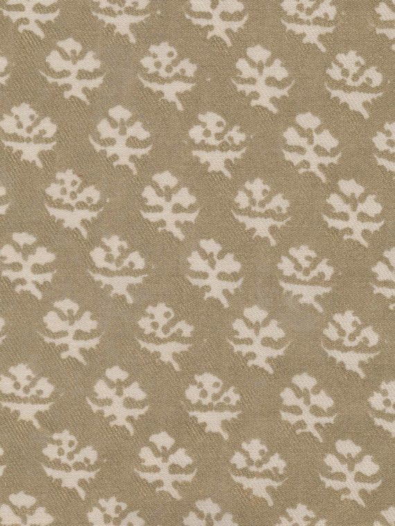 5256 PERSIANO in string & silvery gold texture Fortuny Printed Cottons