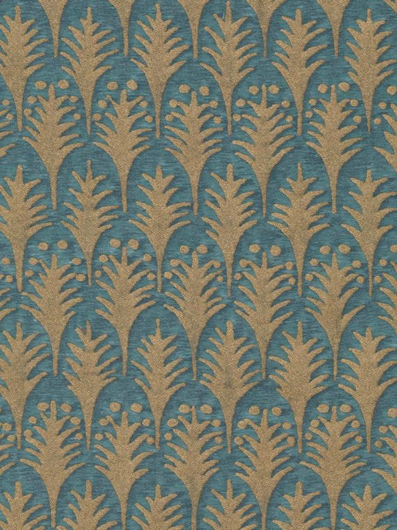 5022 PIUMETTE in blue & gold Fortuny Printed Cottons