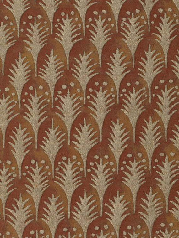 5626 PIUMETTE in copper & silvery gold Fortuny Printed Cottons