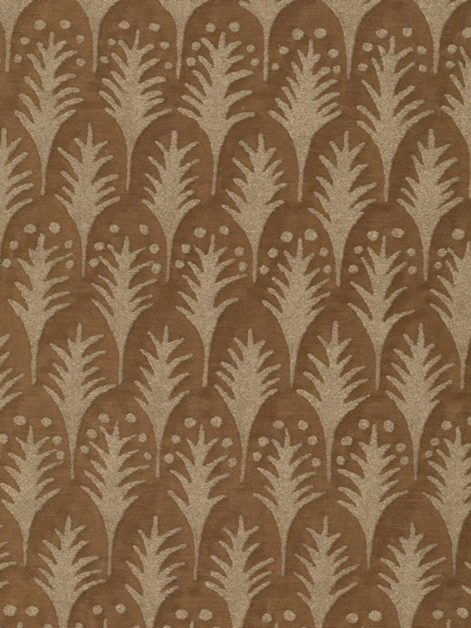 5627 PIUMETTE in warm french brown & gold Fortuny Printed Cottons
