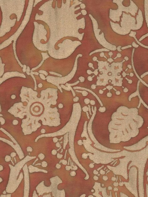 5624 PERSEPOLIS in copper & silvery gold Fortuny Printed Cottons