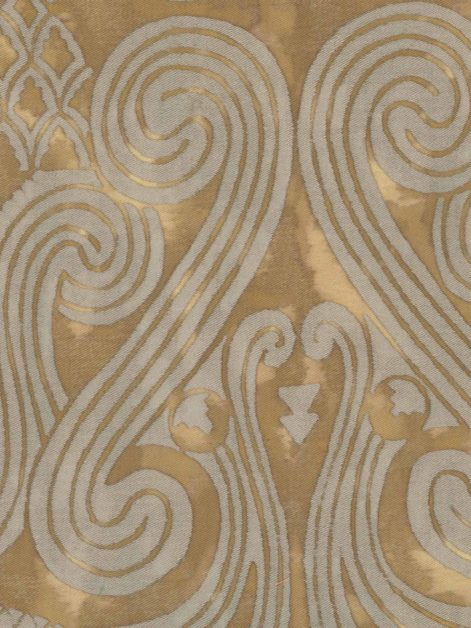 5088 PERUVIANO in tan & silvery gold Fortuny Printed Cottons