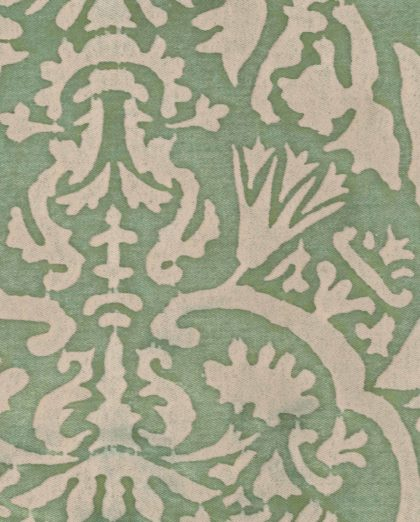 5410 PIAZZETTA in celadon green & beige Fortuny Printed Cottons