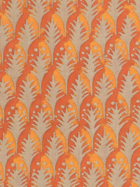 5721 PIUMETTE in burnt apricot & gold Fortuny Printed Cottons