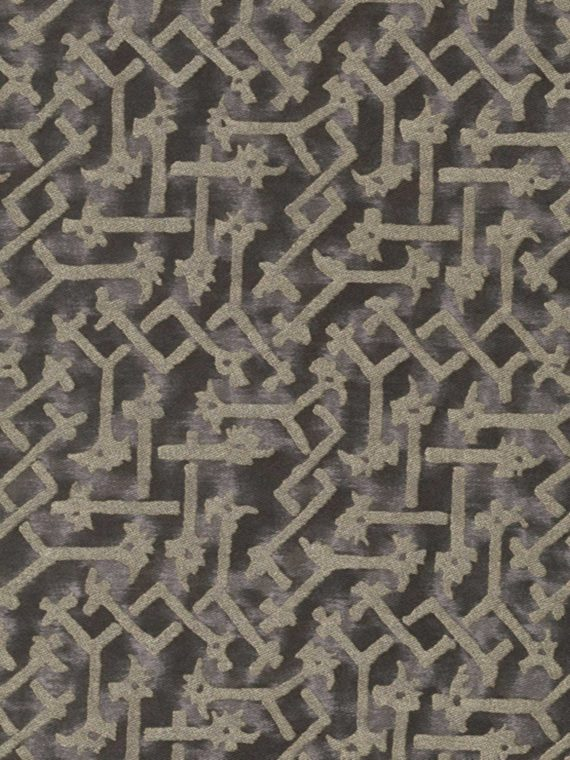 5628 RABAT in black & silver Fortuny Printed Cottons