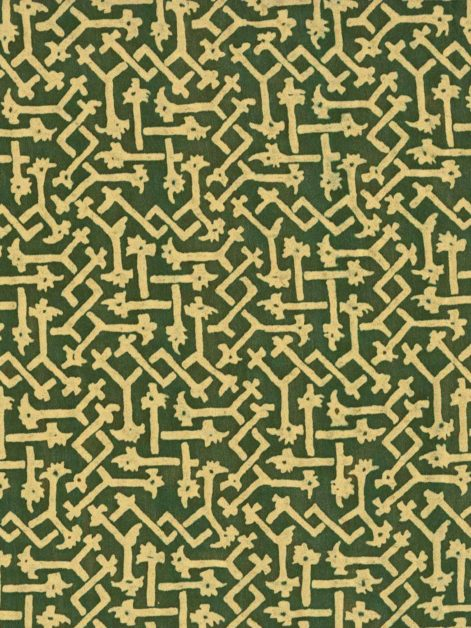 5722 RABAT in evergreen & cream Fortuny Printed Cottons