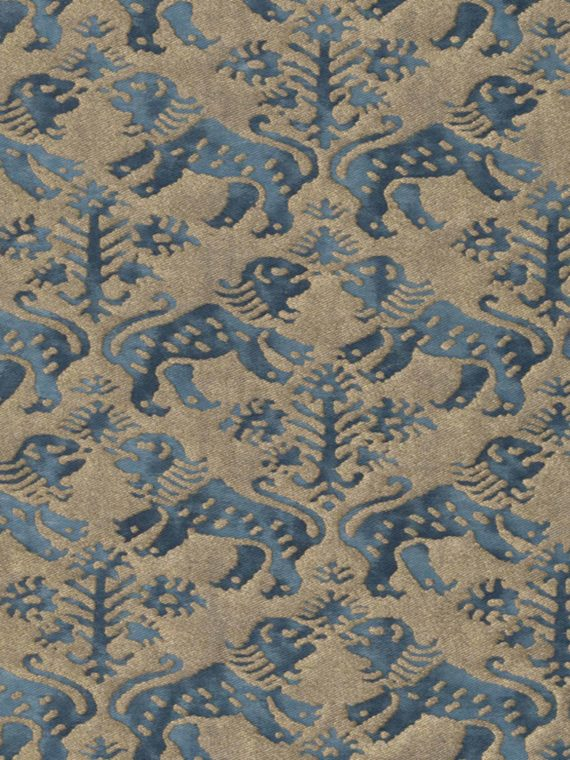 5413 RICHELIEU in indigo blue & gold Fortuny Printed Cottons