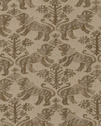 5463 RICHELIEU in brown & pale beige Fortuny Printed Cottons