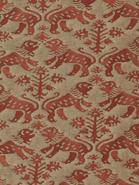 5464 RICHELIEU in rust & gold Fortuny Printed Cottons