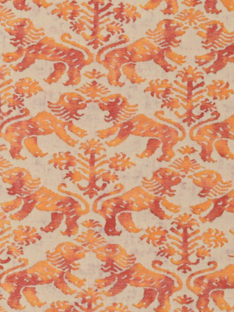 5465 RICHELIEU in bittersweet & pale grey Fortuny Printed Cottons