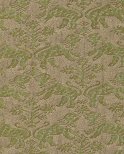 5629 RICHELIEU in bayou green & gold Fortuny Printed Cottons