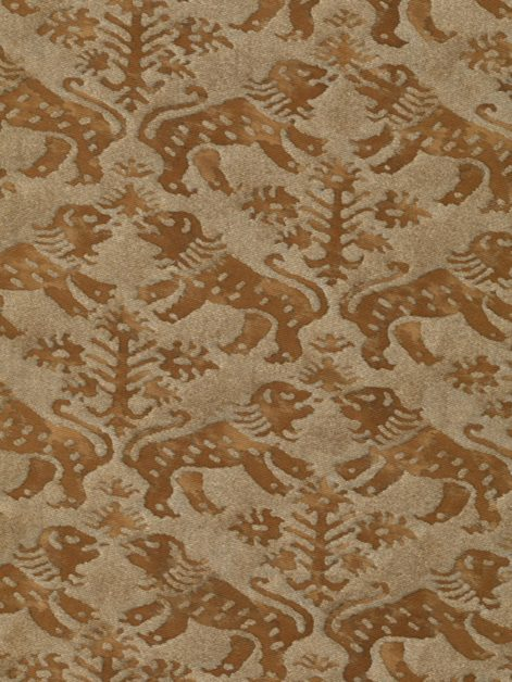 5630 RICHELIEU in brown & gold Fortuny Printed Cottons