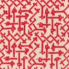 5685 RABAT in red on bourette Fortuny Printed Cottons