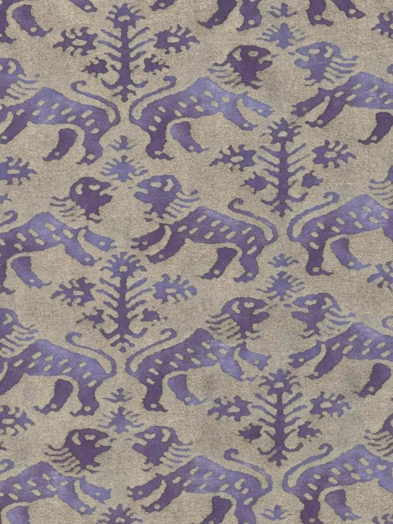 5723 RICHELIEU in royal purple & silvery gold Fortuny Printed Cottons