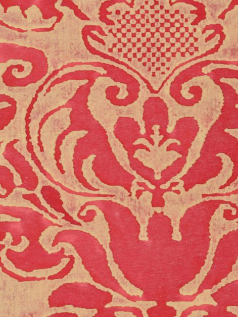 5276 SEVIGNE in red & ivory Fortuny Printed Cottons