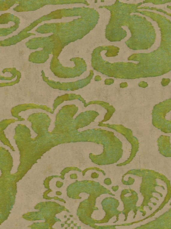 5286 SEVIGNE in bayou-lime green & old ivory Fortuny Printed Cottons