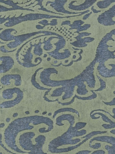 5368 SEVIGNE in prune blue & green Fortuny Printed Cottons