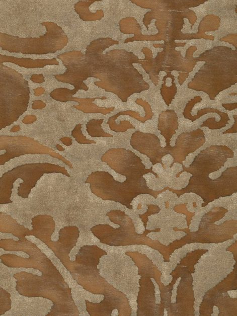 5369 SEVIGNE in warm french brown & gold Fortuny Printed Cottons