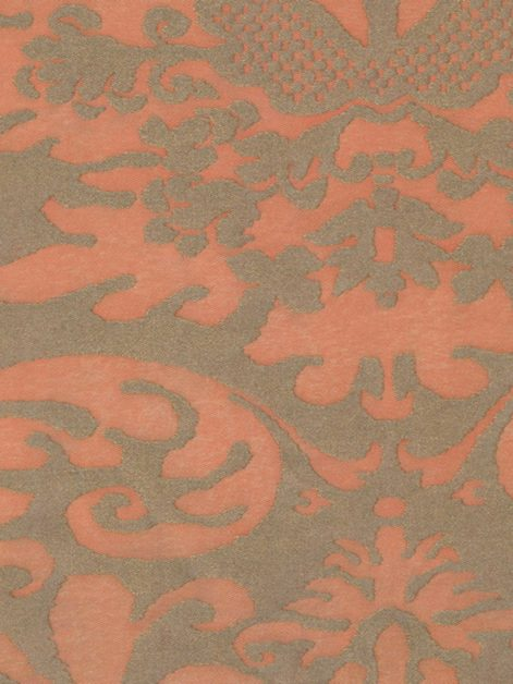 5399 SEVIGNE in melon & silvery gold Fortuny Printed Cottons